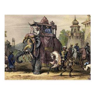 The Nana Sahib and Elephant Postcard