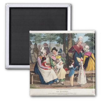 The Nannies, 1820 2 Inch Square Magnet