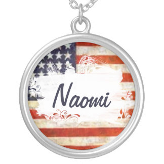"""""""The Naomi"""" American Flag Necklace"""