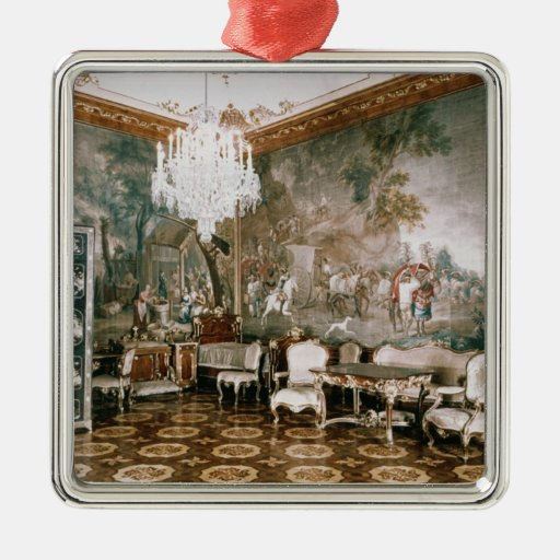 The Napoleon Room at Schonbrunn Palace Square Metal Christmas Ornament