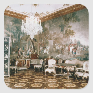 The Napoleon Room at Schonbrunn Palace Square Sticker