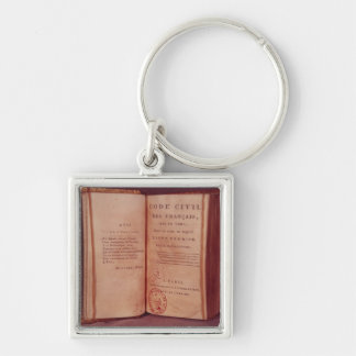 The Napoleonic Code Silver-Colored Square Keychain