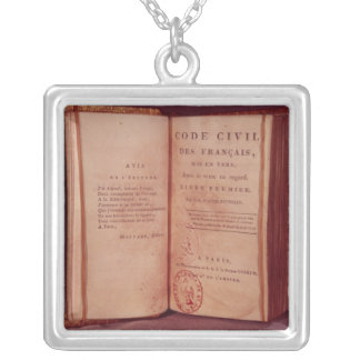 The Napoleonic Code Silver Plated Necklace