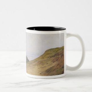 The Narrow Pass at Blankenese, 1840 Two-Tone Coffee Mug