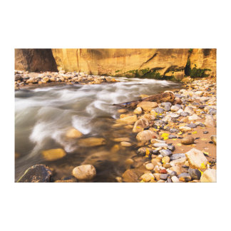 The Narrows Of The Virgin River In Autumn 2 Stretched Canvas Prints
