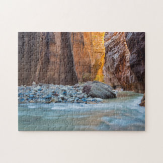The Narrows Of The Virgin River In Autumn 2 Puzzle