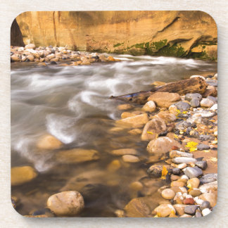 The Narrows Of The Virgin River In Autumn 4 Drink Coaster