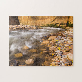 The Narrows Of The Virgin River In Autumn 4 Jigsaw Puzzle