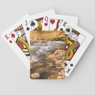 The Narrows Of The Virgin River In Autumn 4 Playing Cards