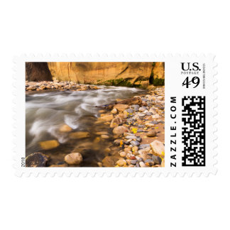 The Narrows Of The Virgin River In Autumn 4 Postage