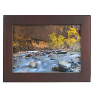 The Narrows Of The Virgin River In Autumn Memory Box