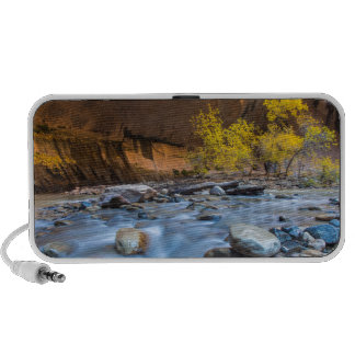 The Narrows Of The Virgin River In Autumn Portable Speaker