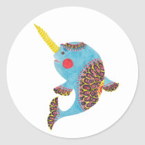 The Narwhal Classic Round Sticker