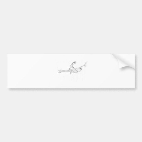 The Narwhal rider Bumper Sticker