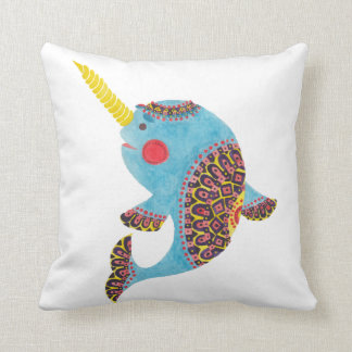 The Narwhal Throw Pillow