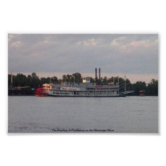The Natchez, A Paddleboat on the Mississippi River Poster