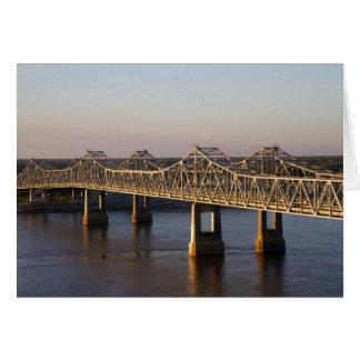 The Natchez-Vidalia Bridges spanning the Greeting Card