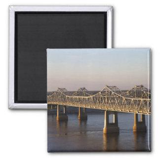 The Natchez-Vidalia Bridges spanning the Magnet