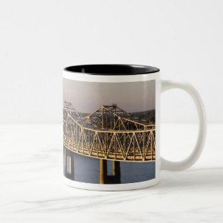 The Natchez-Vidalia Bridges spanning the Mug