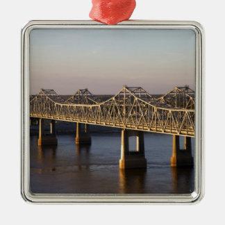 The Natchez-Vidalia Bridges spanning the Christmas Tree Ornaments