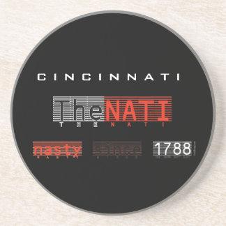 The NATI (Cincinnati) Sandstone Coaster