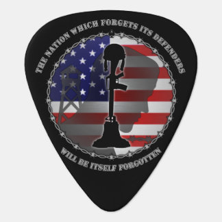 The Nation Which Forgets Its Defenders Guitar Pick