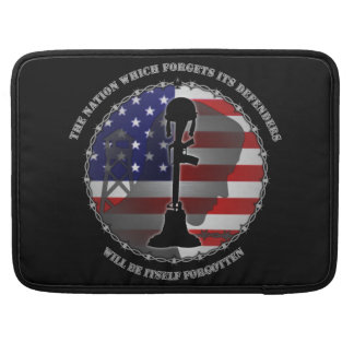 The Nation Which Forgets Its Defenders MacBook Pro Sleeve