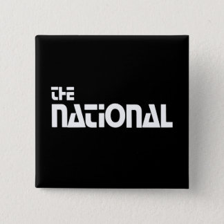 The National - 1980 promo graphic - White Pinback Button