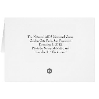 The National AIDS Memorial Grove Golden Gate Park Card