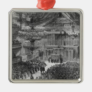 The National Assembly at Bordeaux Metal Ornament