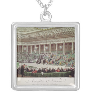 The National Assembly Renounces all Privileges Square Pendant Necklace