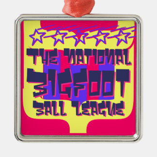 The National Bigfoot Ball League Metal Ornament