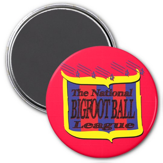 The National BIGFOOT BALL League Star Shield Magnet