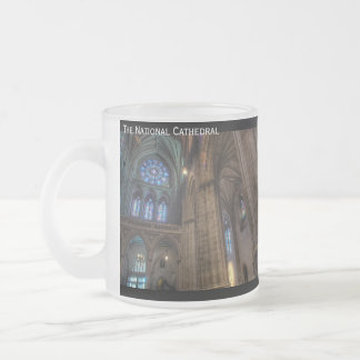 The National Cathedral 10 Oz Frosted Glass Coffee Mug