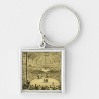 The National Circus, published by Auguste Bry (lit Silver-Colored Square Keychain