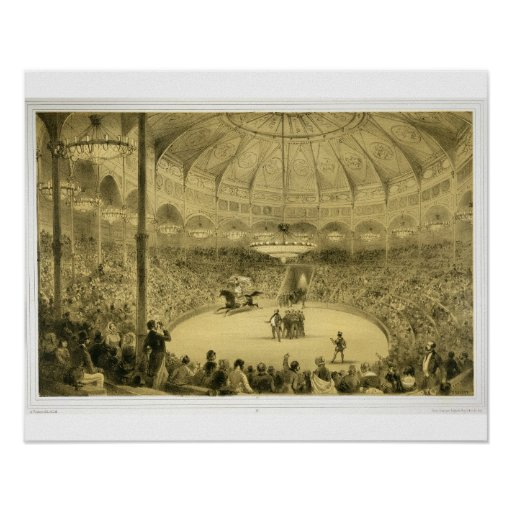 The National Circus, published by Auguste Bry (lit Poster