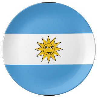 The national flag of Argentina Plate