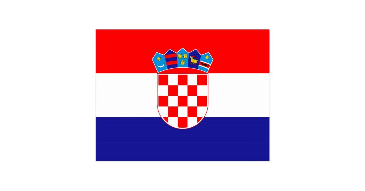 The National Flag Of Croatia Zastava Hrvatske Postcard Zazzle