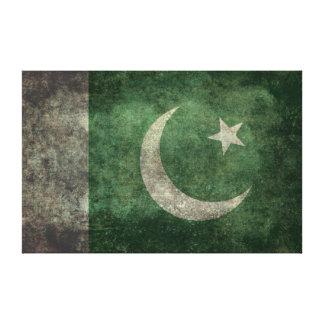 The National Flag of Pakistan - Vintage Version Canvas Print