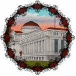 "The National Gallery of Art Ornament<br><div class=""desc"">Vintage postcard showing The National Gallery of Art in Washington,  D.C. Reprinted on this beautiful Christmas ornament with Victorian filagree.</div>"