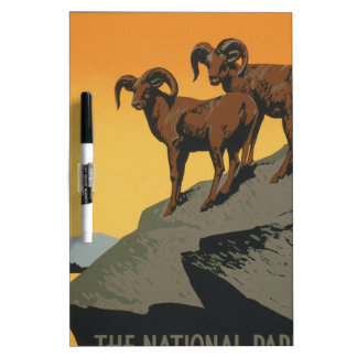 The national parks preserve wild life Dry-Erase board