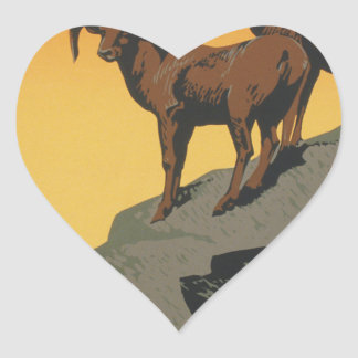 The national parks preserve wild life heart sticker