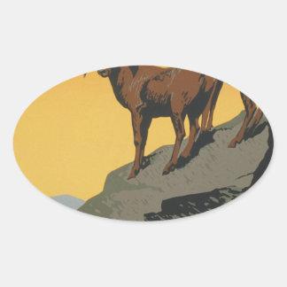 The national parks preserve wild life oval sticker