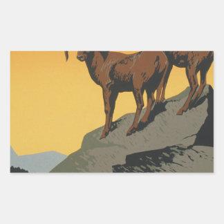 The national parks preserve wild life rectangular sticker