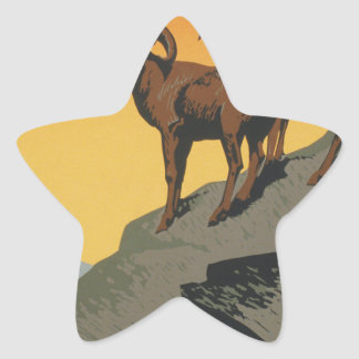 The national parks preserve wild life star sticker