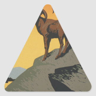 The national parks preserve wild life triangle sticker