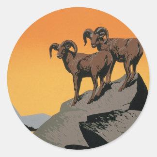 The National Parks Preserve Wildlife Classic Round Sticker