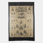 The National Political Chart (1869) Hand Towels