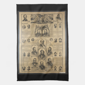 The National Political Chart (1869) Towel