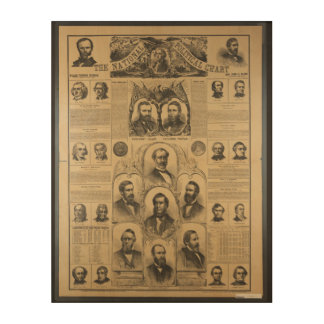 The National Political Chart (1869) Wood Wall Art